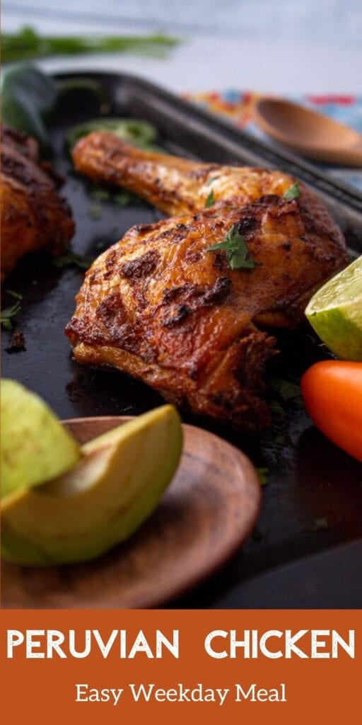 Peruvian Chicken Pinterest Text overlay