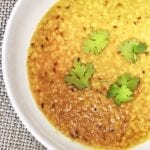 lentils flavored with tempered oil