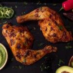 chicken on tray