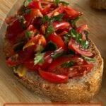 Garlic and Cherry Tomato Bruschetta