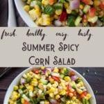 Summer Spicy Corn Salad
