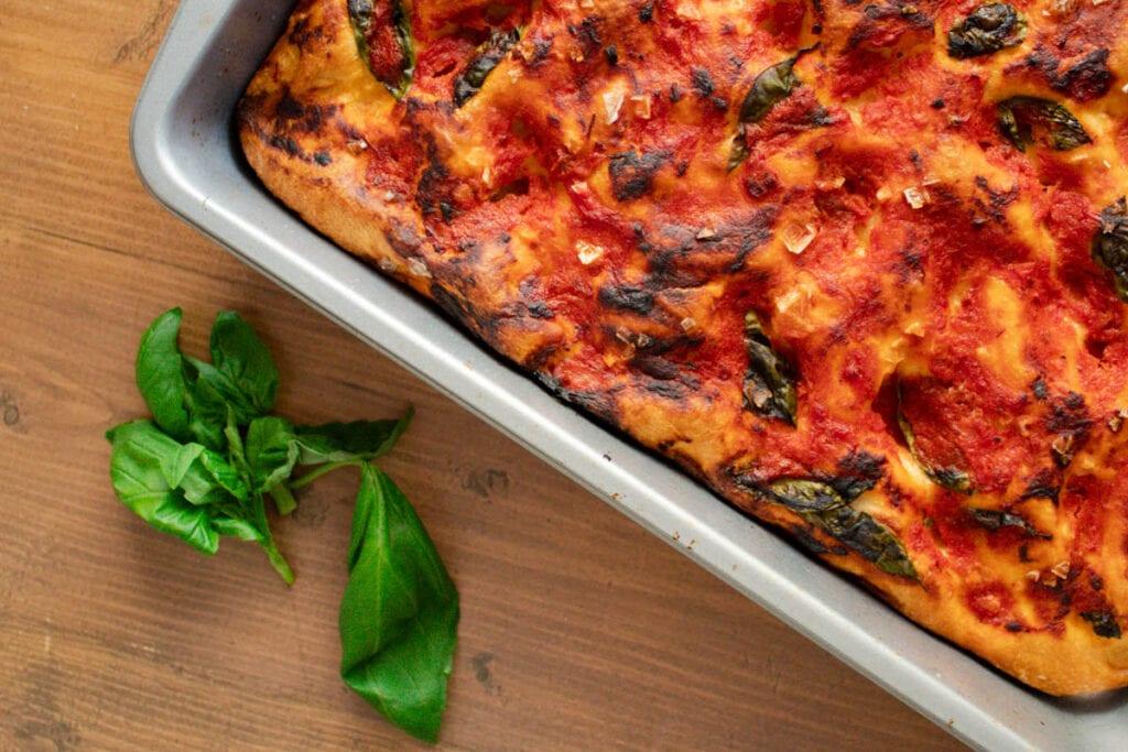 Tomato and Basil Italian Focaccia