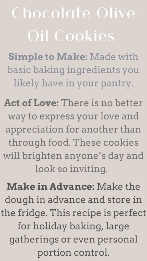 Instagram Reasons to make list chocolate olive oil cookies