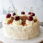 eggless Black Forest cake decorate